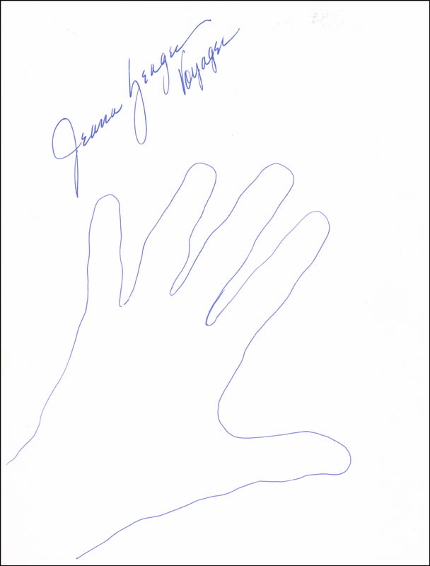 Image 1 for Jeana Yeager - Hand/Foot Print Or Sketch Signed - HFSID 289714