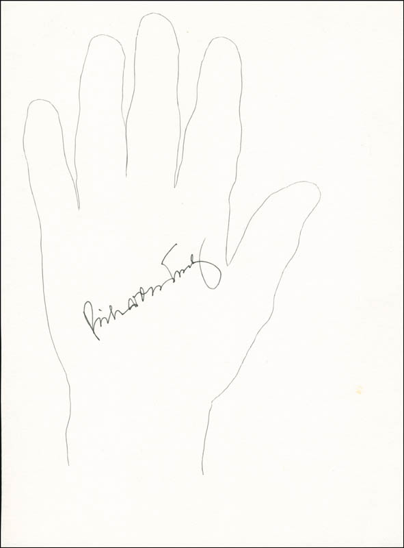 Image 1 for Vice Admiral Richard H. Truly - Hand/Foot Print Or Sketch Signed - HFSID 289716