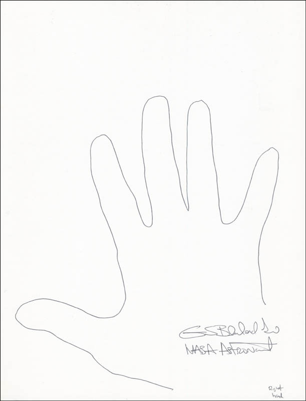 Image 1 for Colonel Guion S. 'Guy' Bluford Jr. - Hand/Foot Print Or Sketch Signed - HFSID 289718