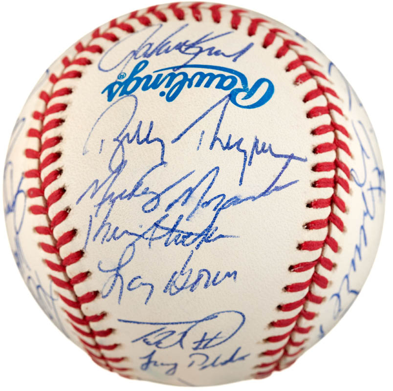 Image 4 for The Philadelphia Phillies - Autographed Signed Baseball with co-signers - HFSID 289765
