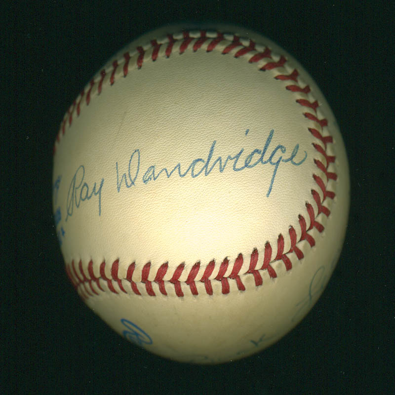 Image 3 for Ray Dandridge - Autographed Signed Baseball co-signed by: Buck Leonard - HFSID 289786