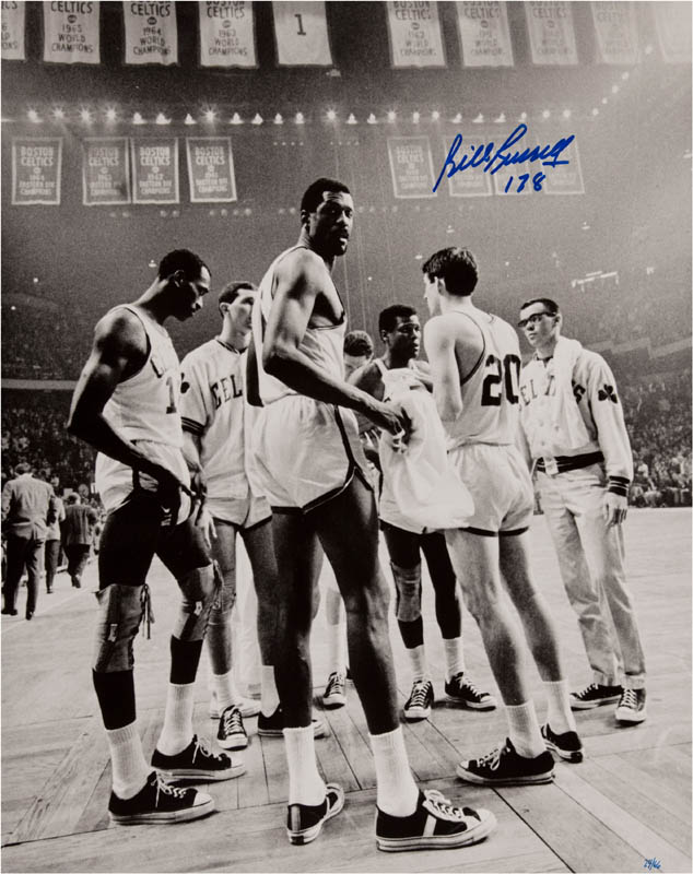 Image 1 for Bill Russell - Autographed Signed Poster - HFSID 289801