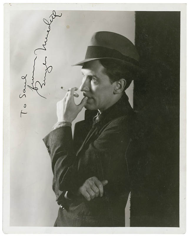Image 1 for Burgess Meredith - Autographed Inscribed Photograph Circa 1936 - HFSID 289832