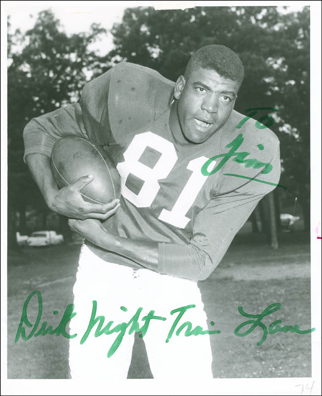 09318865034 Image 1 for Richard 'Night Train' Lane - Autographed Inscribed Photograph -  HFSID 289861