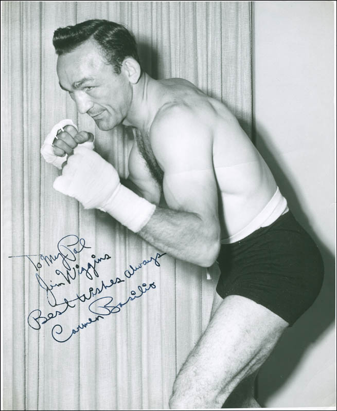 Image 1 for Carmen Basilio - Autographed Inscribed Photograph Circa 1958 - HFSID 289873