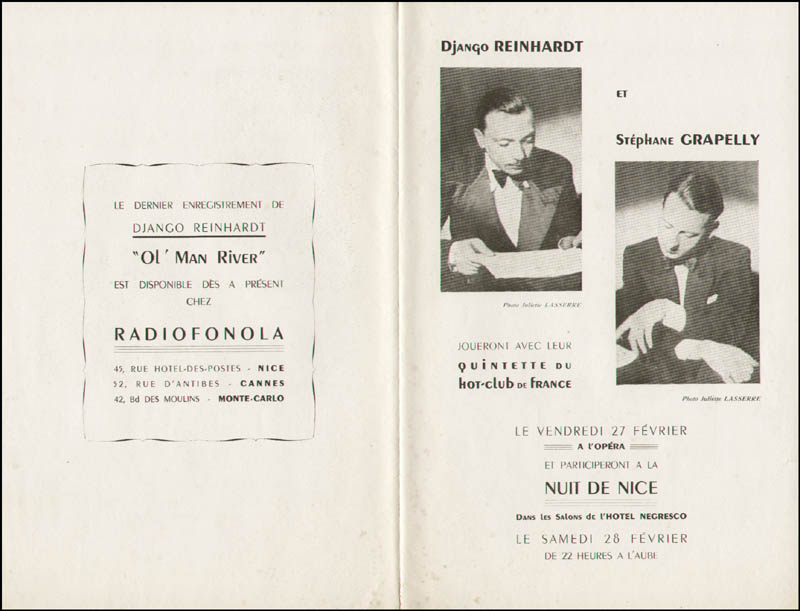 Image 10 for Django Reinhardt - Program Signed with co-signers - HFSID 289875