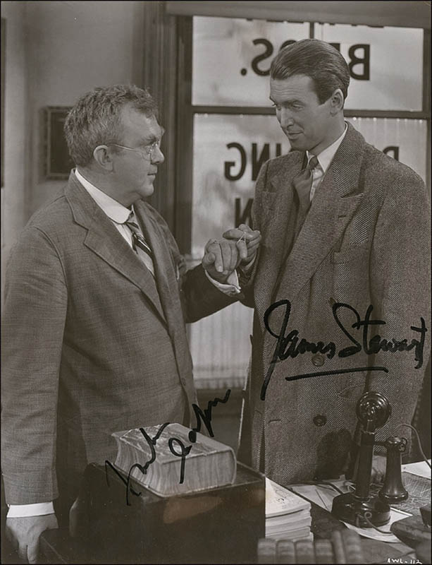 James Jimmy Stewart Photograph Signed With Cosigners Autographs Manuscripts