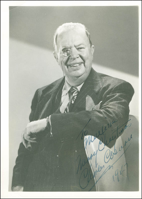 Image 1 for Charles D. Coburn - Autographed Inscribed Photograph 1947 - HFSID 289903