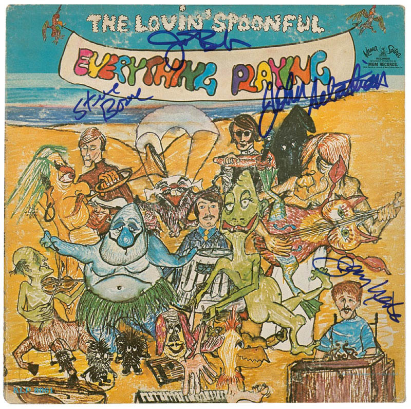 Image 1 for Lovin' Spoonful - Record Album Cover Signed with co-signers - HFSID 289927