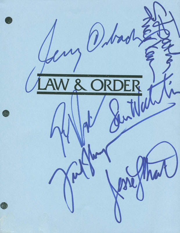 Image 1 for Law And Order TV Cast - Script Page Signed with co-signers - HFSID 289950
