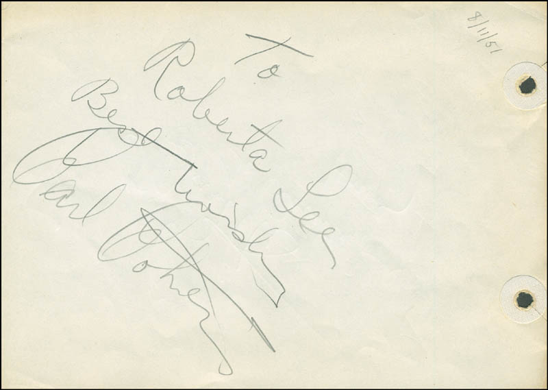 Image 3 for Smiley (Lester) Burnette - Autograph Note Signed co-signed by: Carl Cohen - HFSID 289953