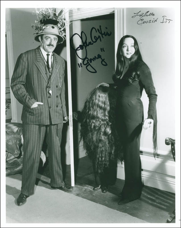Image 1 for The Addams Family TV Cast - Autographed Signed Photograph co-signed by: John Astin, Felix ('Cousin Itt') Silla - HFSID 290026