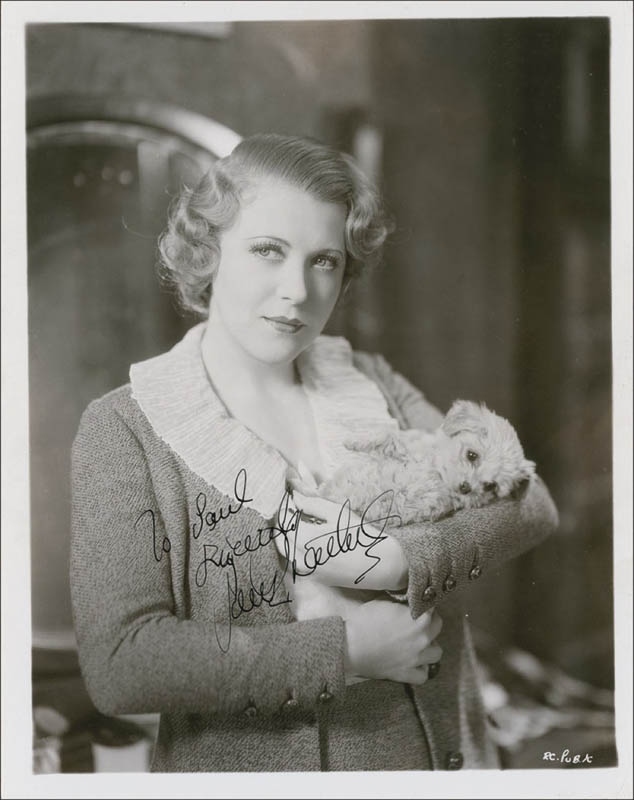 Image 1 for Ruth Chatterton - Autographed Inscribed Photograph Circa 1935 - HFSID 290045