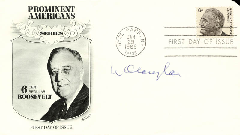Image 1 for Associate Justice William O. Douglas - First Day Cover Signed - HFSID 29009