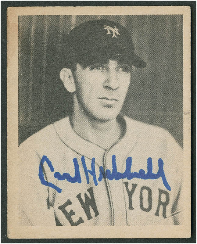 Image 1 for Carl Hubbell - Trading/Sports Card Signed - HFSID 290163