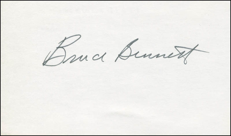 Image 3 for Bruce (Herman Brix) Bennett - Autograph Note Double Signed 11/19/1995 - HFSID 290210