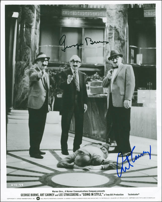 Image 1 for Going In Style Movie Cast - Autographed Signed Photograph co-signed by: George Burns, Art Carney - HFSID 290216
