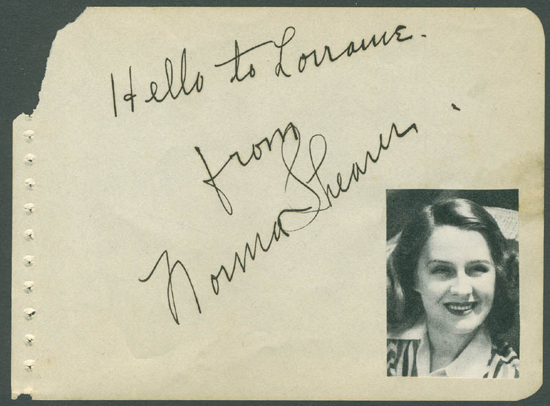 Image 1 for Norma Shearer - Autograph Note Signed - HFSID 290218