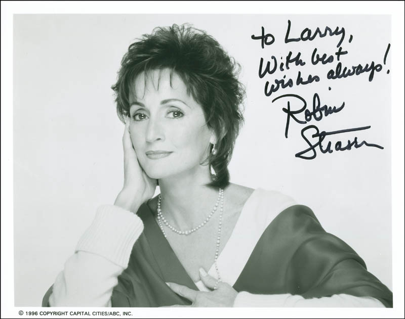 Image 1 for Robin Strasser - Autographed Inscribed Photograph - HFSID 290320