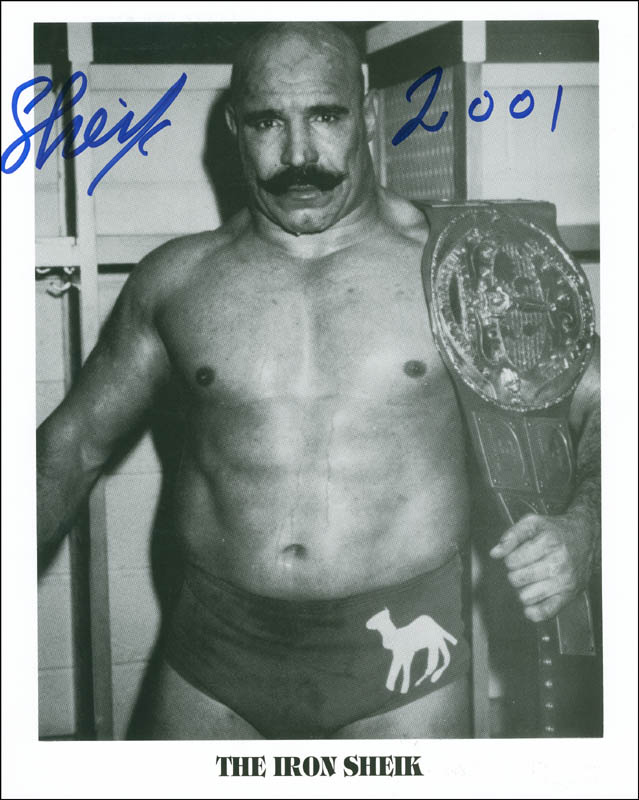 Image 1 for Iron Sheik - Autographed Signed Photograph 2001 - HFSID 290360