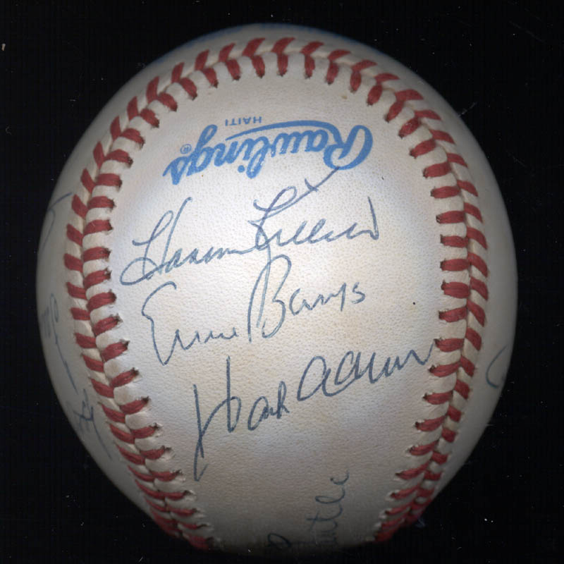 Image 4 for 500 Home Run Hitters - Autographed Signed Baseball with co-signers - HFSID 29039