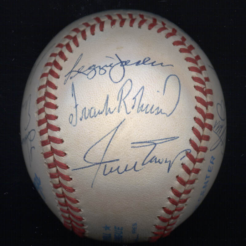 Image 6 for 500 Home Run Hitters - Autographed Signed Baseball with co-signers - HFSID 29039