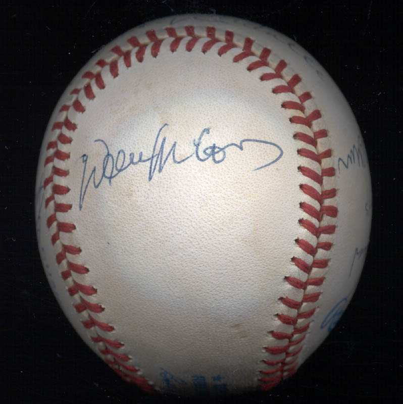 Image 7 for 500 Home Run Hitters - Autographed Signed Baseball with co-signers - HFSID 29039