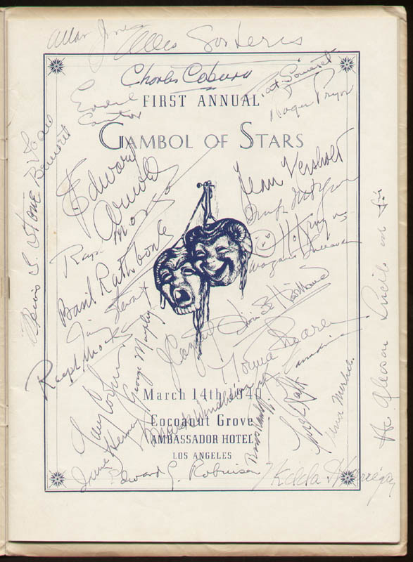 Image 1 for Gambol Of Stars 1940 - Program Signed 03/14/1940 with co-signers - HFSID 290507