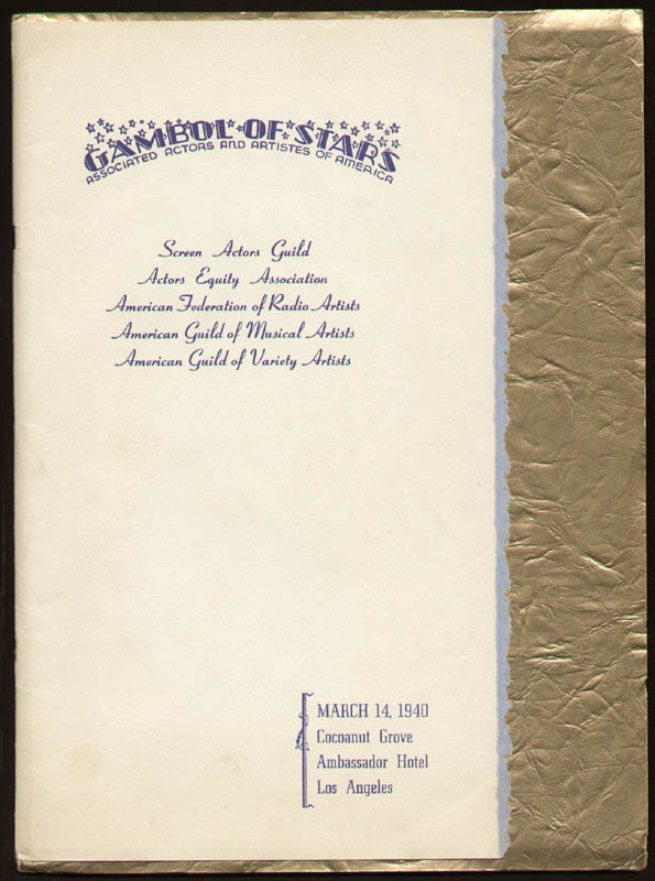 Image 3 for Gambol Of Stars 1940 - Program Signed 03/14/1940 with co-signers - HFSID 290507