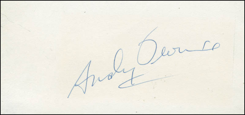 Image 1 for Andy Devine - Autograph - HFSID 290549