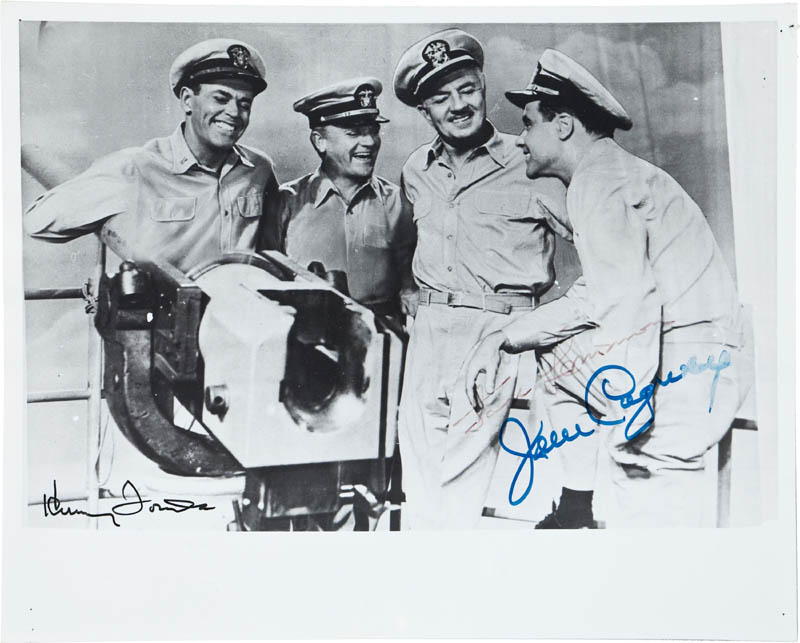 Image 1 for Mister Roberts Movie Cast - Autographed Signed Photograph co-signed by: Henry Fonda, James Cagney - HFSID 290551