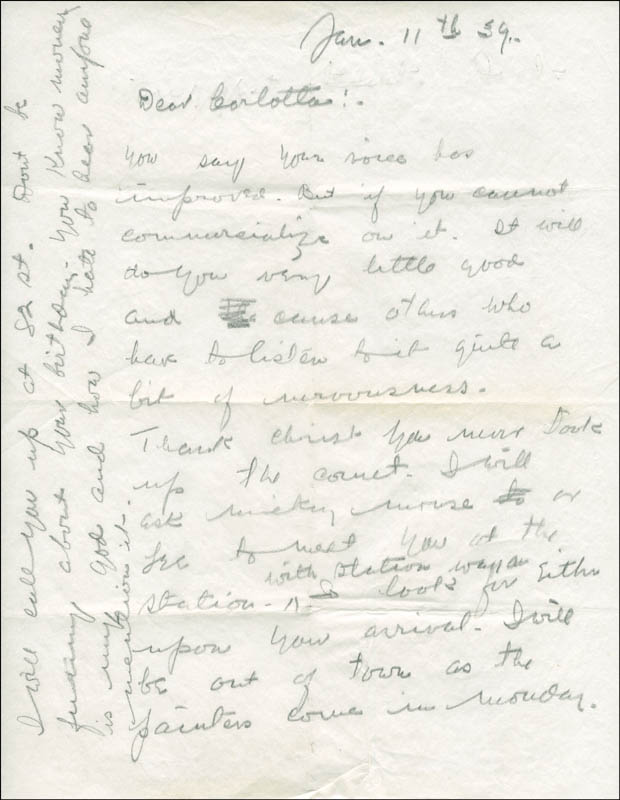 Image 3 for W. C. Fields - Autograph Letter Signed 01/11/1939 - HFSID 290554