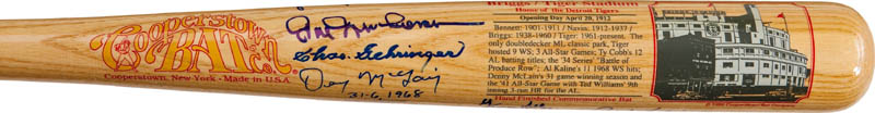 Image 3 for The Detroit Tigers - Baseball Bat Signed with co-signers - HFSID 290565