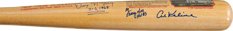 Image 4 for The Detroit Tigers - Baseball Bat Signed with co-signers - HFSID 290565