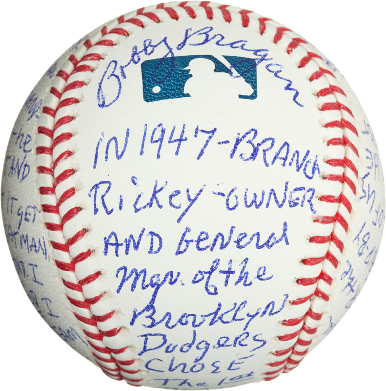 Image 1 for Bobby 'Nig' Bragan - Annotated Baseball Signed - HFSID 290567