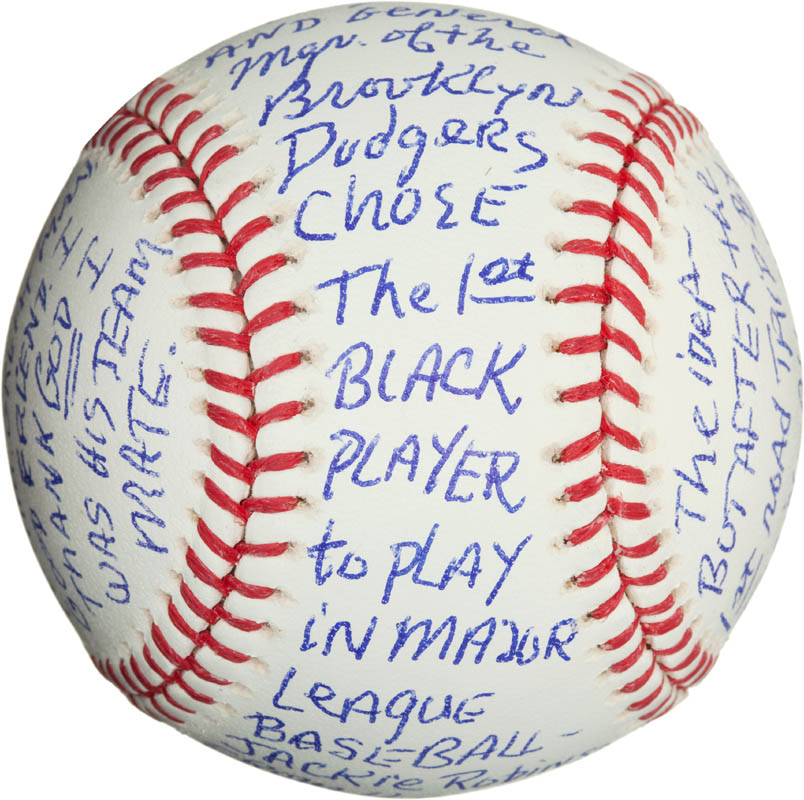 Image 3 for Bobby 'Nig' Bragan - Annotated Baseball Signed - HFSID 290567