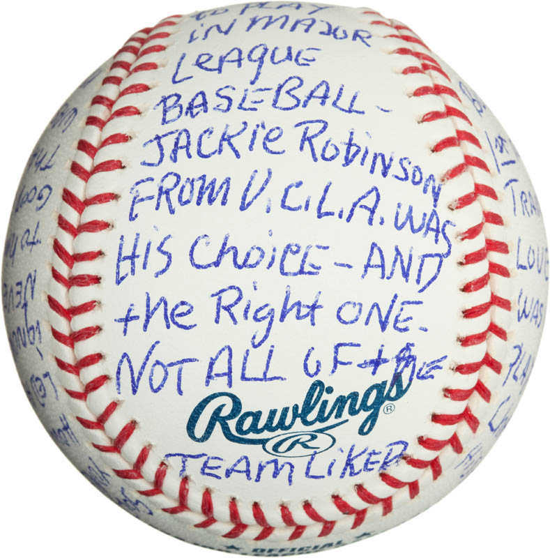 Image 4 for Bobby 'Nig' Bragan - Annotated Baseball Signed - HFSID 290567