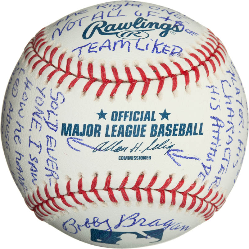 Image 7 for Bobby 'Nig' Bragan - Annotated Baseball Signed - HFSID 290567