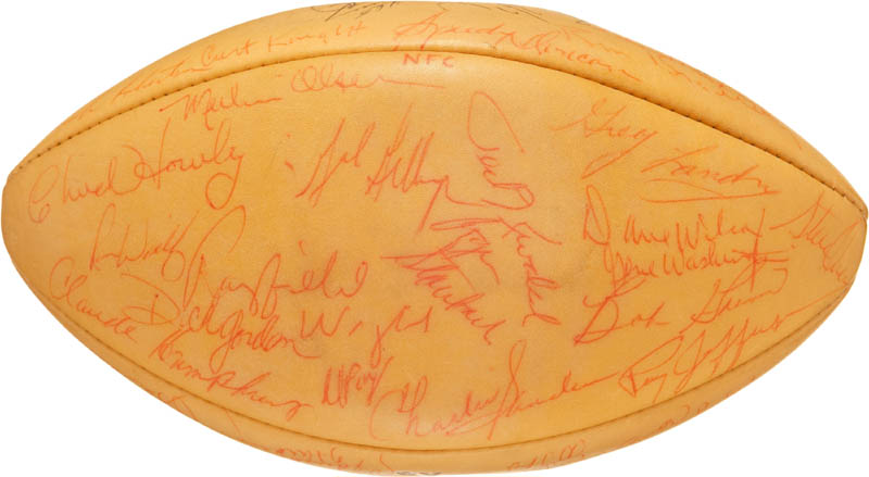 Image 3 for 1972 Pro Bowlers - Football Signed with co-signers - HFSID 290592