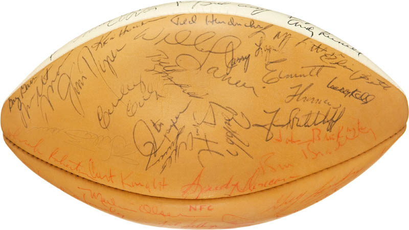 Image 4 for 1972 Pro Bowlers - Football Signed with co-signers - HFSID 290592