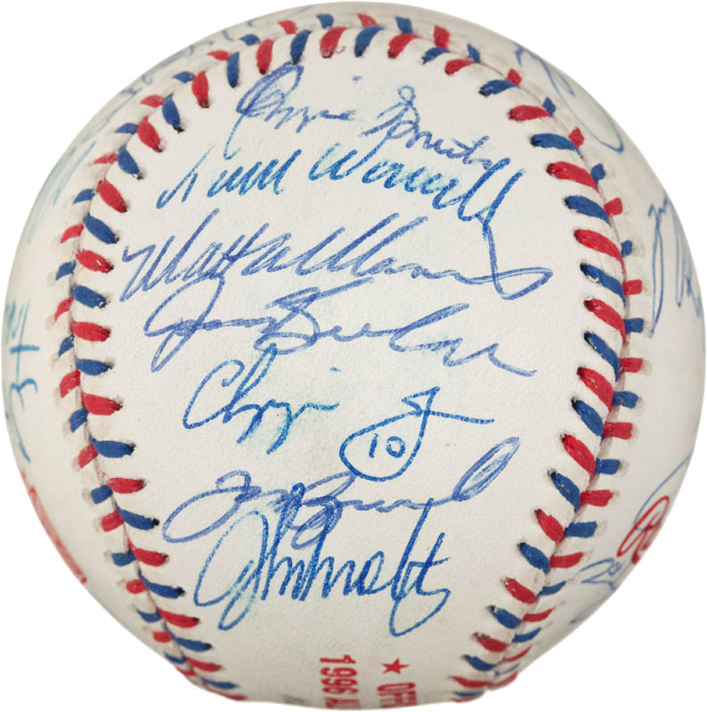 Image 3 for 1996 National League All Star Team - Autographed Signed Baseball with co-signers - HFSID 290593