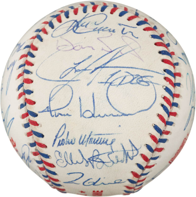 Image 4 for 1996 National League All Star Team - Autographed Signed Baseball with co-signers - HFSID 290593