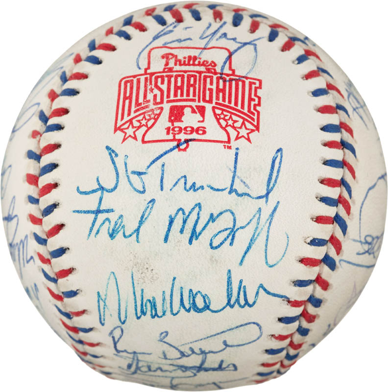 Image 6 for 1996 National League All Star Team - Autographed Signed Baseball with co-signers - HFSID 290593