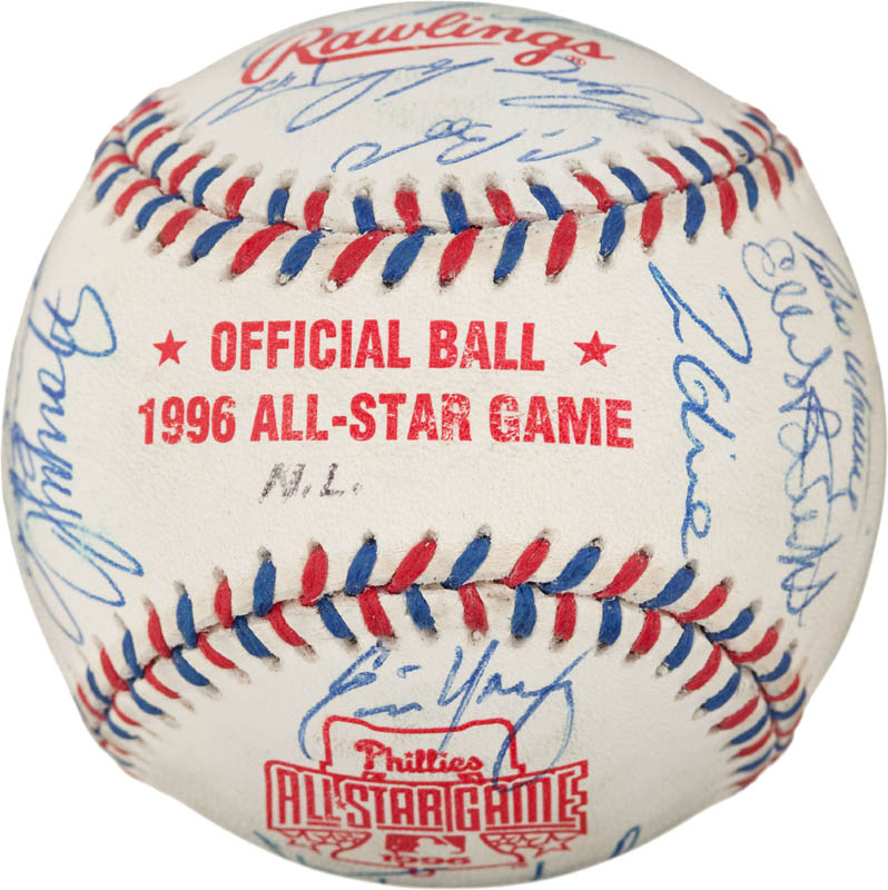 Image 7 for 1996 National League All Star Team - Autographed Signed Baseball with co-signers - HFSID 290593