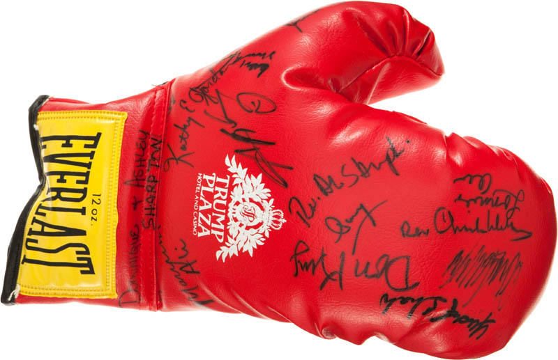 Image 1 for Muhammad 'The Greatest' Ali - Boxing Glove Signed co-signed by: Don King, Reverend Al (Alfred) Sharpton, Dominique Sharpton, Ashley Sharpton - HFSID 290662