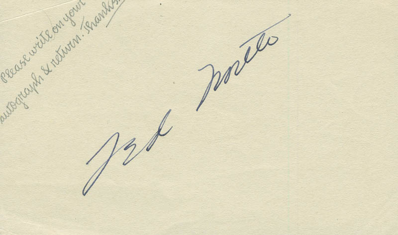 Image 1 for Ted 'Michael' North - Autograph - HFSID 290733