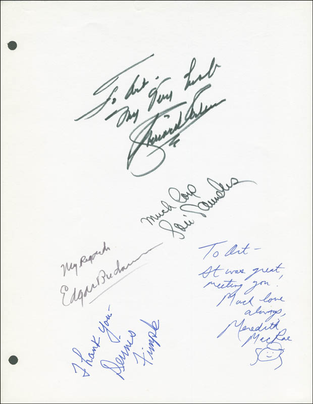 Image 1 for Petticoat Junction TV Cast - Inscribed Script Signed with co-signers - HFSID 290757