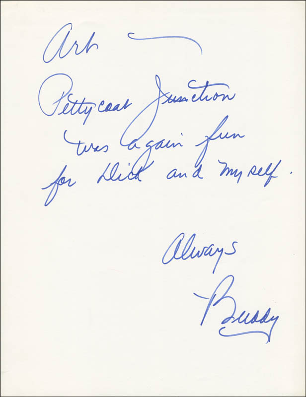 Image 3 for Petticoat Junction TV Cast - Inscribed Script Signed with co-signers - HFSID 290757