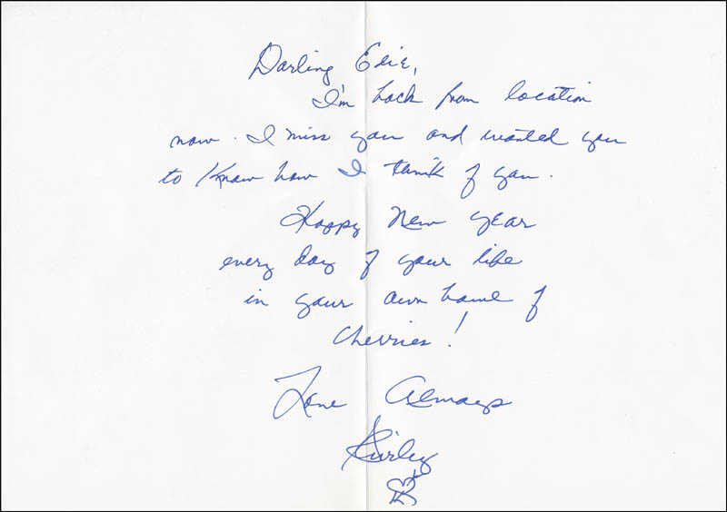 Image 1 for Shirley Maclaine - Autograph Letter Signed - HFSID 290763