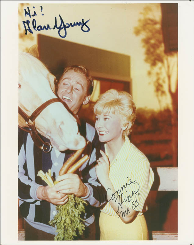 Image 1 for Mister Ed TV Cast - Autographed Signed Photograph co-signed by: Alan Young, Connie Hines - HFSID 290811